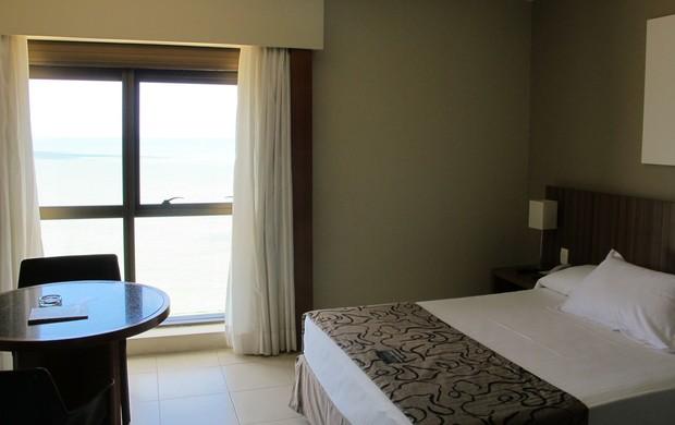 Hotel Seleção Espanha quarto Casillas (Foto: Victor Canedo)