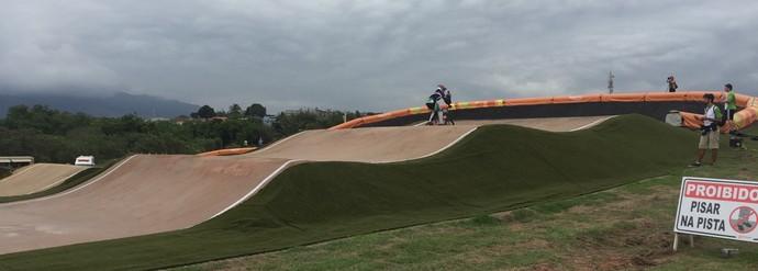 Pista evento teste ciclismo BMX Deodoro (Foto: Amanda Kestelman)