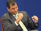Presidente do Equador diz que país não se ajoelhará diante da Inglaterra