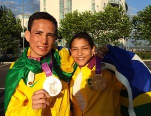 Sarah Menezes e Felipe Kitadai (Foto: Cahê Mota / Globoesporte.com)