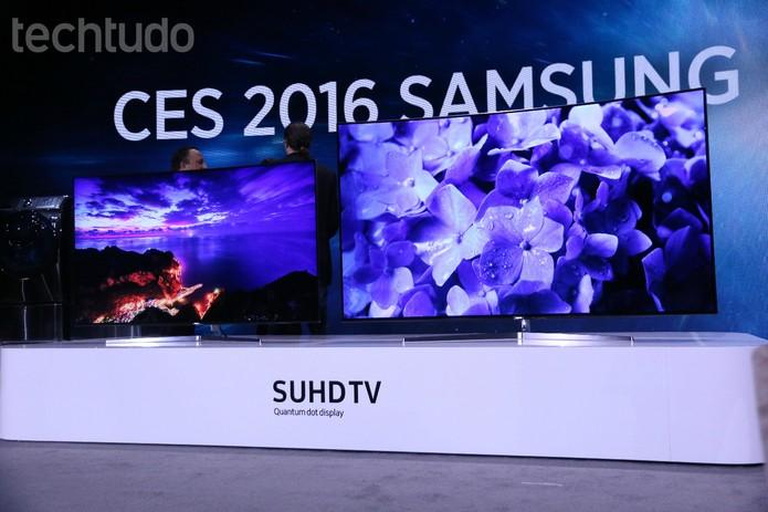 Samsung CES 2016 KS 9500 (Foto: Marlon Câmara/TechTudo)