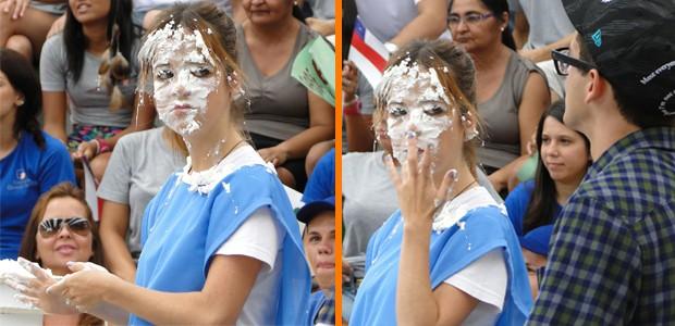 Morgana também levou torta na cara (Foto: Malhação / TV Globo)