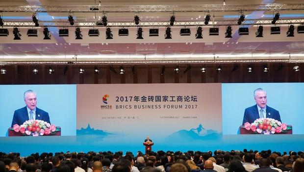 Temer em discurso na China (Foto: Rogério Melo/PR)