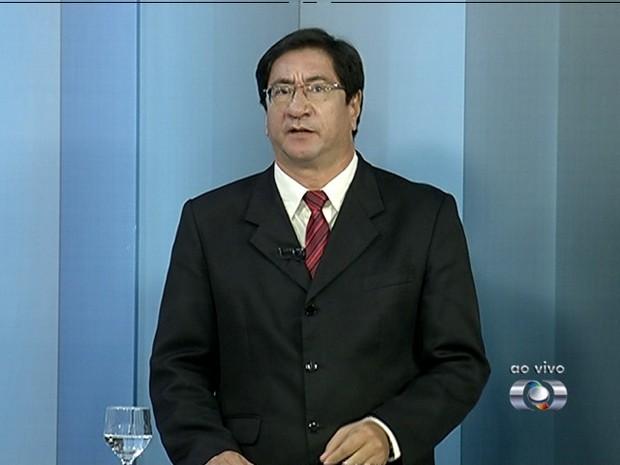 Luís Cláudio, candidato ao governo do Tocantins (Foto: Reprodução/TV Anhanguera)