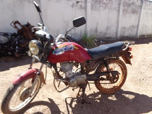 moto furtada (Foto: Divulgação/ Ascom SSP-TO)