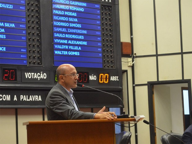 Emendas do vereador Marcos Papa, sobre contenção de gastos, foram negadas (Foto: Rodolfo Tiengo/G1)