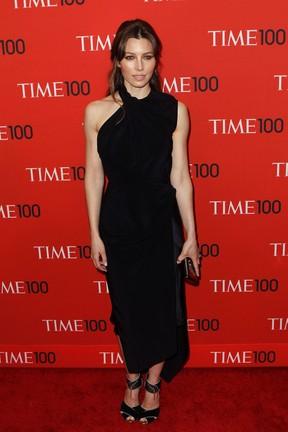 Jessica Biel em evento em Nova York, nos Estados Unidos (Foto: Lucas Jackson/ Reuters)
