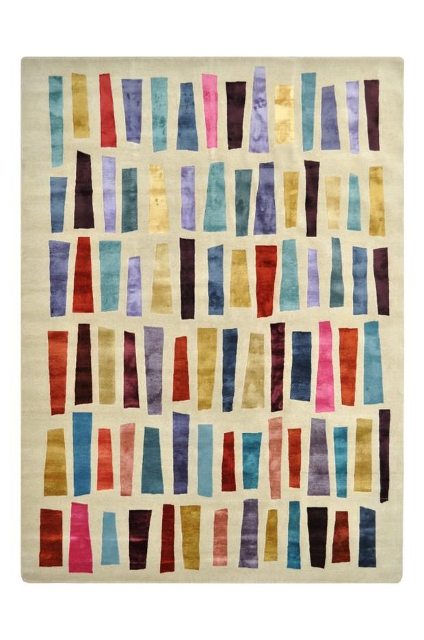 Tapete Psyki, de lã e seda, feito no Nepal, da Botteh, R$ 3.180,00 o m2 (Foto: Divulgação)