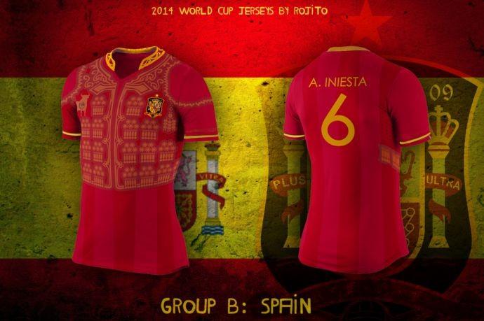 Blog da Copa - design camisa da Espanha