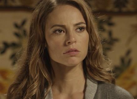 Melissa garante que Alex é filho de Felipe e se nega a fazer DNA