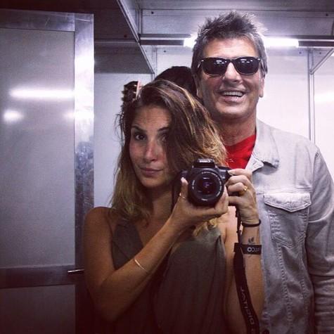 Manuela e Evandro Mesquita (Foto: Arquivo pessoal)
