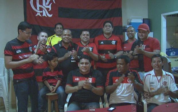 Ninho do Urubu, torcida do Flamengo no Acre (Foto: Reprodução/TV Acre)