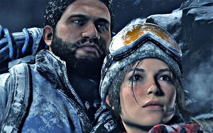 Lara ao lado de um aliado em Rise of the Tomb Raider (Foto: Divulgação)