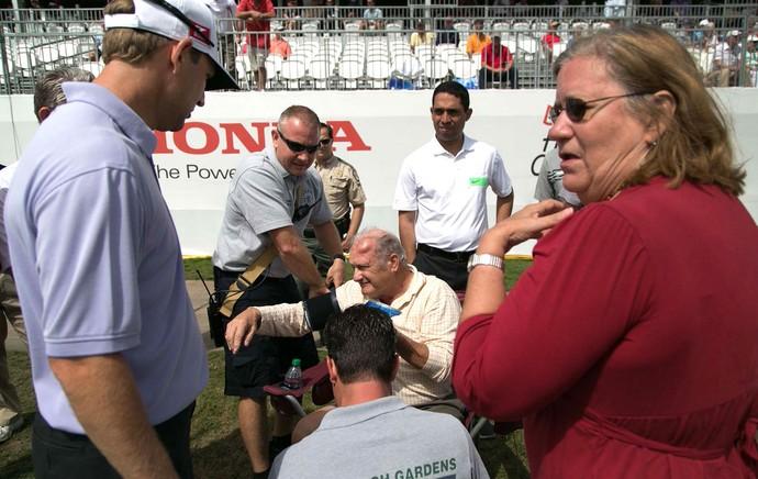 golfe Torcedor Edwin Curtis bolada galo cabeça pal beach Gardebs (Foto: Agência AP)