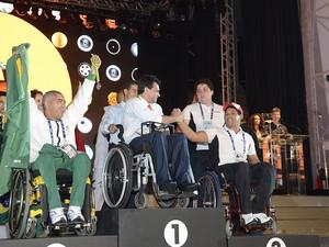 Cadeirantes participam da Olimpíada do Conhecimento (Foto: José Paulo Lacerda)