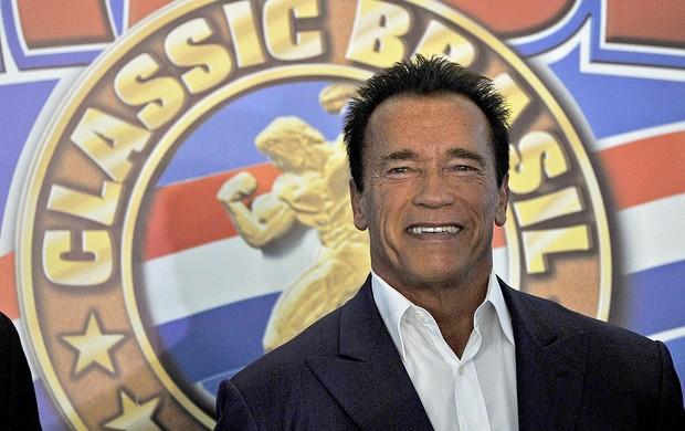 Arnold Schwarzenegger evento Força Bruta Rio de Janeiro (Foto: AFP)
