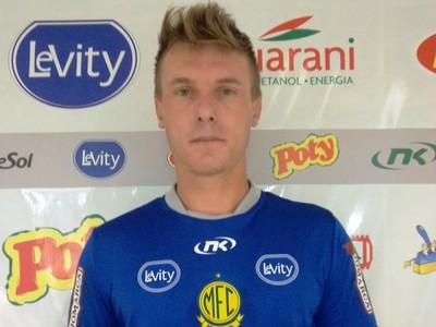Goleiro Gatti, na apresentação ao Mirassol (Foto: Vinícius de Paula / Mirassol FC)