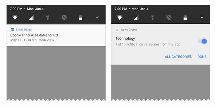 Novo Android terá mudanças mais uma vez nas notificações (Foto: Divulgação/Google) (Foto: Novo Android terá mudanças mais uma vez nas notificações (Foto: Divulgação/Google))
