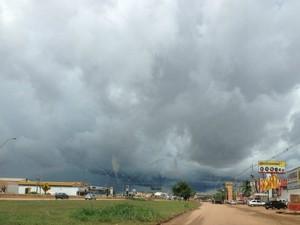 Fim de semana será de tempo nublado, em Rondônia (Foto: Vanessa Vasconcelos/G1)