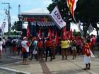 Ato reúne centenas na Praça da Juventude (Anna Fontes / TV Sergipe)