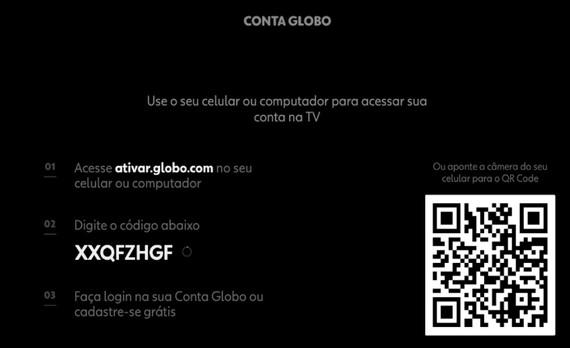 Ativação Smart TV Sony - Canais Globo (Foto: Canais Globo)