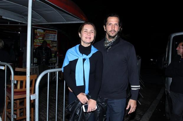Adriana Esteves e Vladimir Brichta (Foto: Marcello Sá Barretto / AgNews)