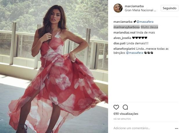 Marina elogia Grazi (Foto: Reprodução/Instagram)