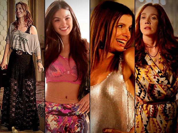 Conheça as tendências das feiras de moda impressas nos figurinos da trama (Foto: Avenida Brasil / TV Globo)
