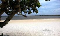 Lago fica localizado dentro da terra indígena Raposa Serra do Sol (Neidiana Oliveira/G1)