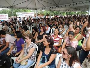Professores decidiram continuar em greve após assembleia em Palmas (Foto: Divulgação/Sintect)