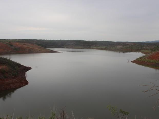 Barragem de Piaus, na cidade de São Julião, localizada ao Sul do Piauí (Foto: Ellyo Teixeira/G1)