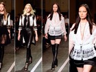 Preto e branco marcam o desfile da Givenchy na Semana de Moda de Paris