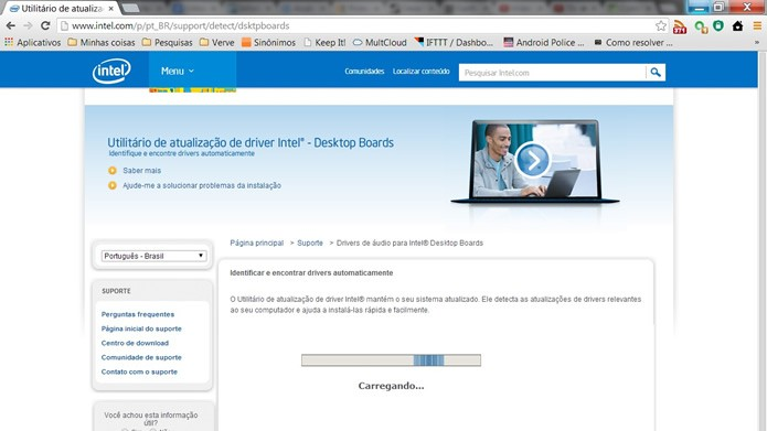 Ainda no site do fabricante do processador, utilize as suas ferramentas online de detecção para certificar-se quanto a versão e o modelo (Foto: Reprodução/Daniel Ribeiro)