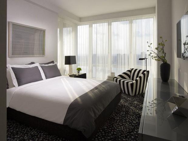 Quarto cinza 15 opções elegantes Casa Vogue Ambientes ~ Quarto Solteiro Cinza E Branco