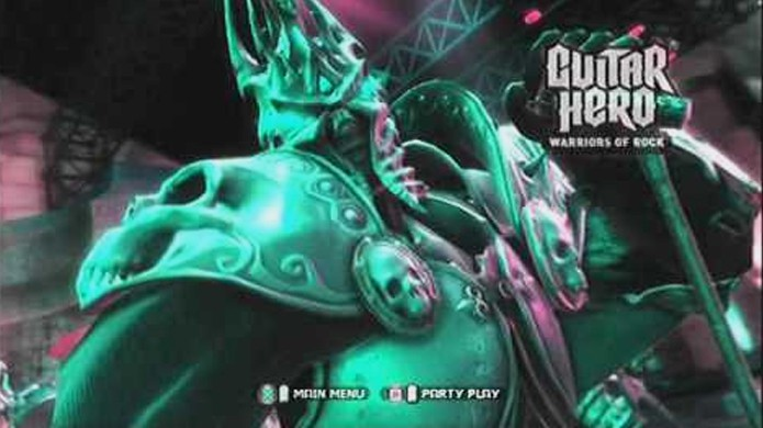 O Lich King de World of Warcraft visitou Guitar Hero Warriors of Rock após a fusão entre Activision e Blizzard (Foto: Reprodução/YouTube)