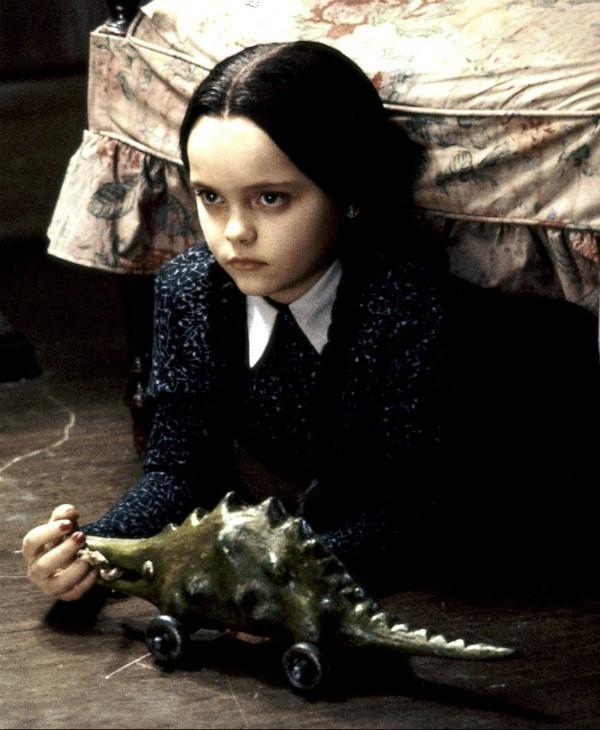 A atriz Christina Ricci em 'A Família Adams' (Foto: Reprodução)