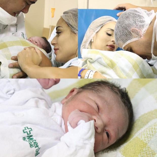 Letícia Santiago com marido e filho (Foto: Reprodução/ Instagram)