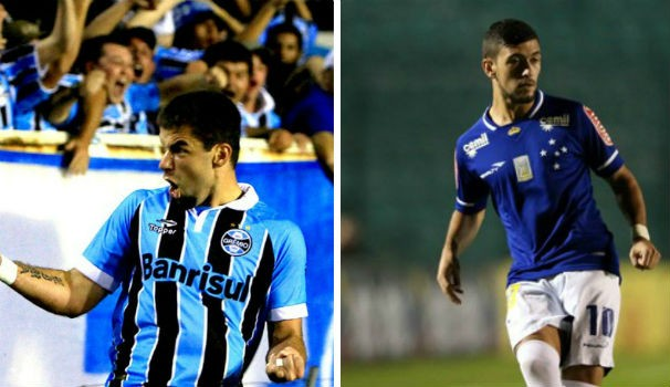 Grêmio e Cruzeiro (Foto: Montagem/GE)