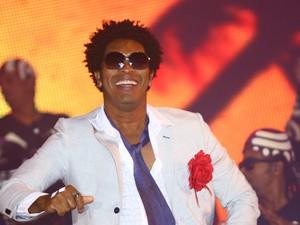 Timbalada foi o primeiro grupo a se apresentar no Axé Brasil 2012 (Foto: Maurício Vieira/G1)