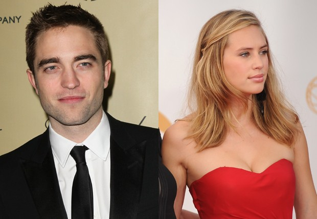 Robert Pattinson e Dylan Penn (Foto: Getty Images e AFP)