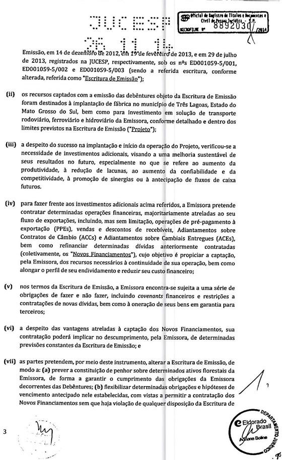 O documento da Junta Comercial citado na delação de Fábio Cleto (Foto: Reprodução)