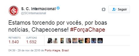 Internacional Chape (Foto: Twitter)