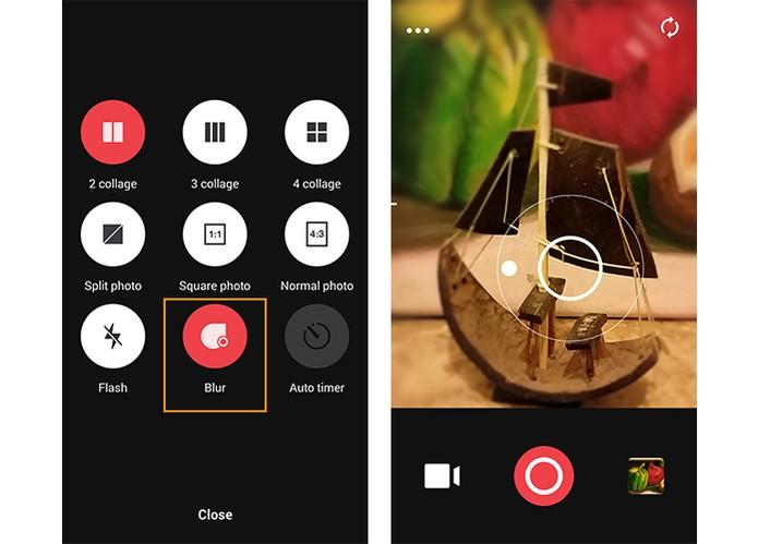 Função de Blur no app Camu (Foto: Reprodução/Barbara Mannara)