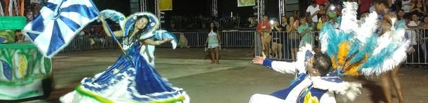 Escolas de samba animam o público no segundo dia de desfiles em Goiânia (Fernanda Borges/G1)