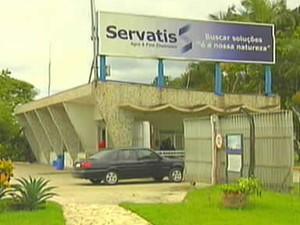 Empresa Servatis, em Resende, se envolveu em acidente ambiental em 2008 (Foto: Reprodução/TV Rio Sul)