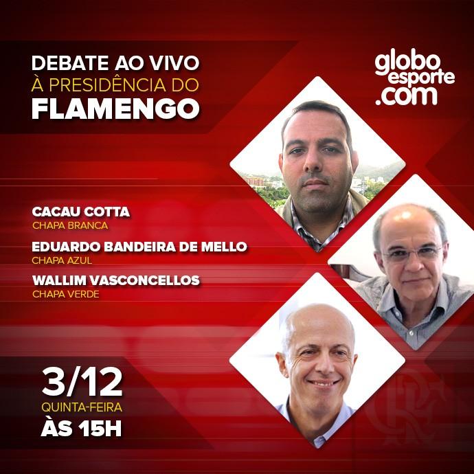 Card - Debate Presidência Flamengo - 690x690 2 (Foto: globoesporte.com)