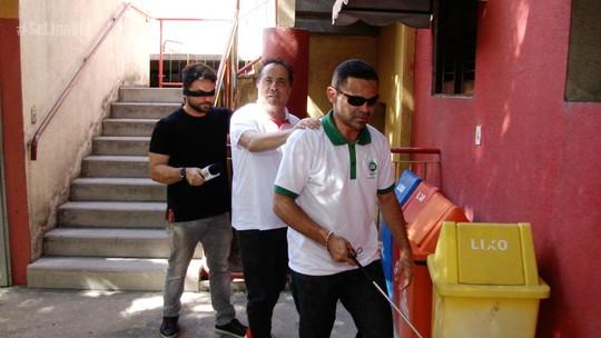Geraldo Magela, o Ceguinho, apronta uma comédia em Fortaleza