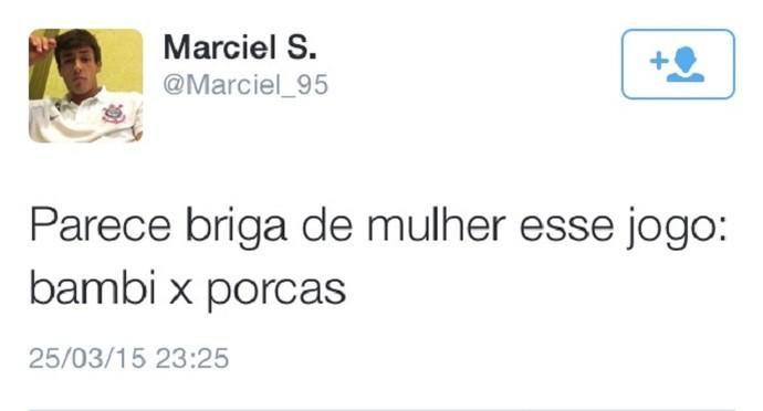 marciel corinthians sarro rivais (Foto: Reprodução/Twitter)