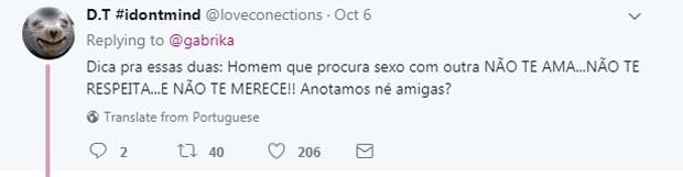 Crítica a Deborah Secco na web (Foto: Reprodução Twitter)