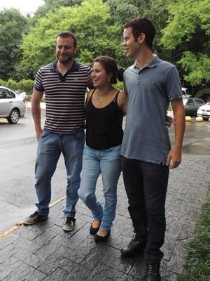 Gustavo, Kelen e Guilherme seguem em acompanhamento no Ciava (Foto: Felipe Truda/G1)